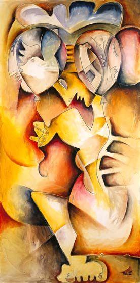 art print by alexandra nechita entitled peace celebration