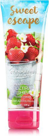 Sweet Escape - Strawberry Picnic Ultra Shea Body Cream - Signature Collection - Bath & Body Works