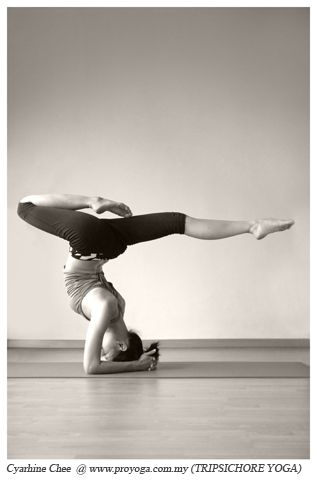 Beautiful forearm stand #yoga I should work on doing this.