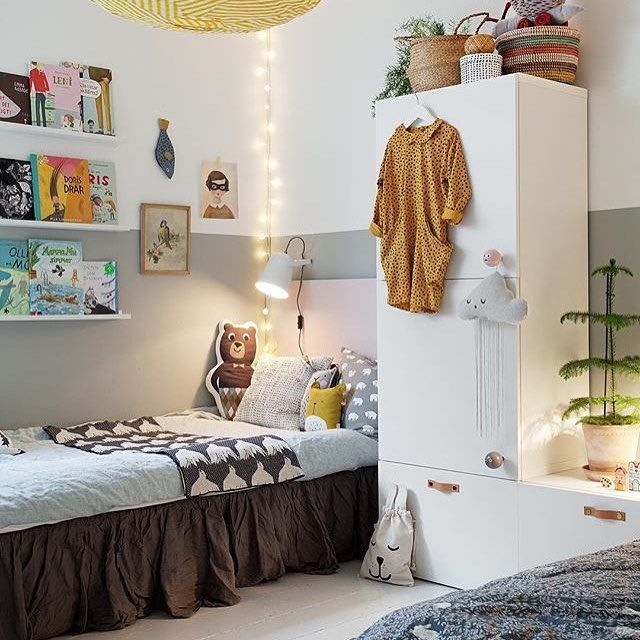 We like this cozy children's room with our blanket on the bed, thank you @bloggaibagis for the lovely picture  #houseofrym #houseofrymstore