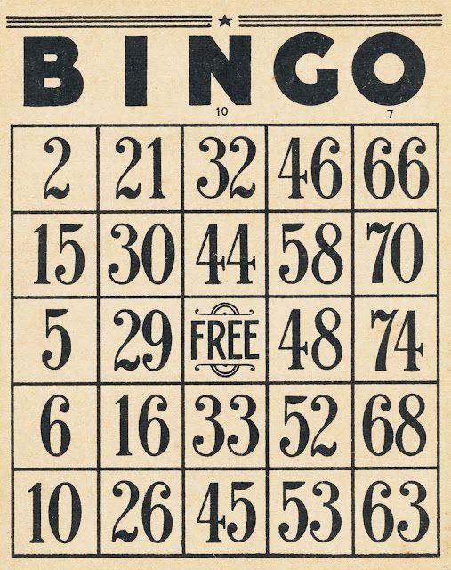 Vintage BINGO cards... I found a couple vintage bingo cards in an antique store and LOVE them!!