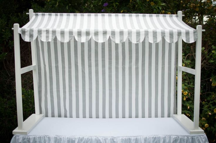 Lolly Canopy Display - Grey and White looks great with silver and mirrors and bling bling bling