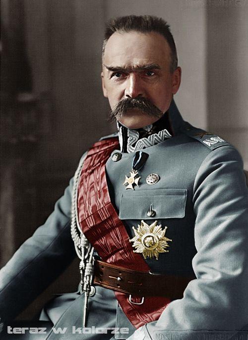 Józef Piłsudski z Orderem Legii Honorowej