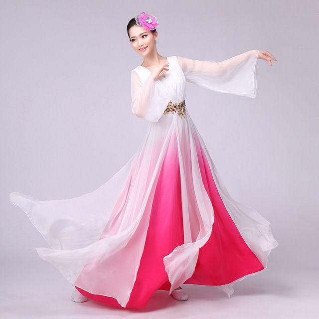 Mujeres degradado de color Espiga tradicional Chino Antiguo Traje Hermoso Vestido de Princesa Traje de la Danza de la Dinastía de la Ópera China