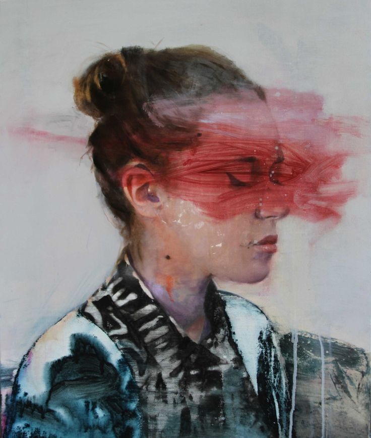 Simply beautiful! Lou Ros realizes wonderful paintingswith a glitch-unfinished final result. Every portraitseems tome a vanishing ghost.