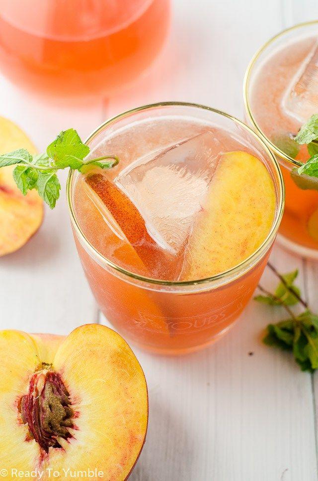 """Peach Bourbon Cocktail – The """"Peachy Keen"""""""