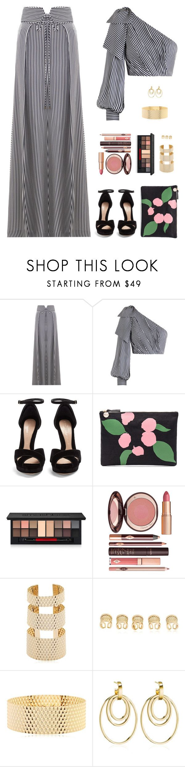 """Sin título #4945"" by mdmsb on Polyvore featuring moda, Zimmermann, Alexander McQueen, Clare V., Smashbox, Charlotte Tilbury, MVP y Vita Fede"