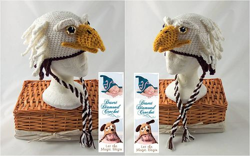 Eagle Earflap Hat - All Sizes by Desert Diamond Crochet - just too cool!!