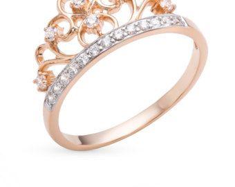 Corona anillo oro. Anillo de la corona de oro por JewelryEscorial