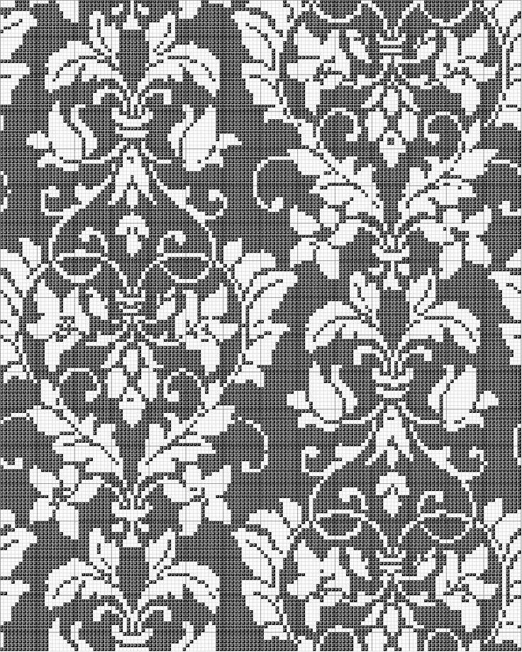 All sizes | Damask Cross Stitch Pattern | Flickr - Photo Sharing!