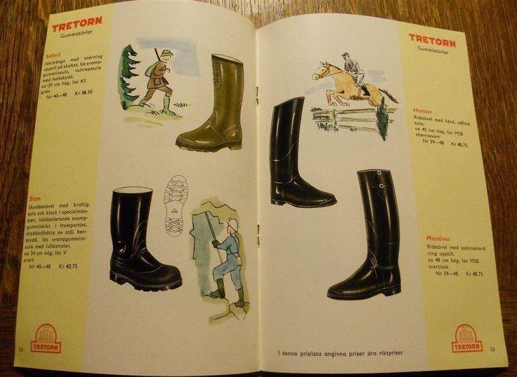 Reklam för TRETORN Gummistövlar 1959-60