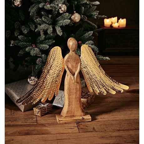 Dekofigur Engel, dezente Weihnachtsdeko