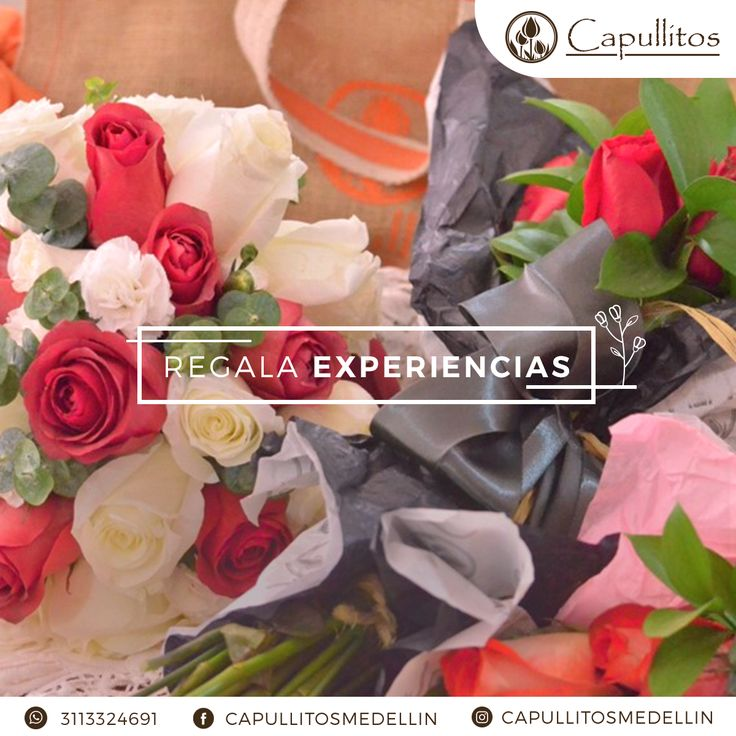 Arreglo con rosas. Taller floral Capullitos en Medellin - Colombia