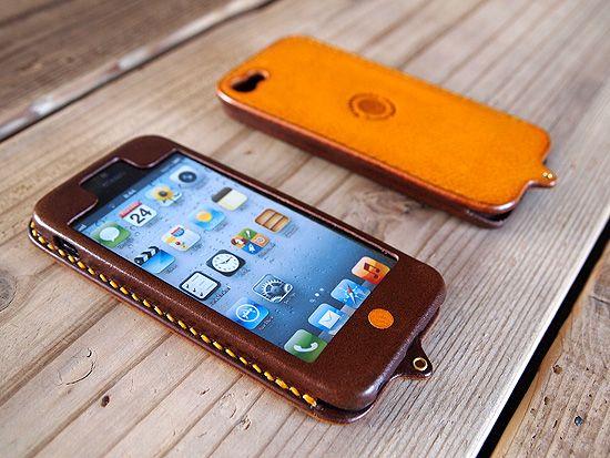 レザー iPhone5 ケース Kav'a(カヴァ) - ハンドメイドレザー小物 Hoppendakko WEB SHOP