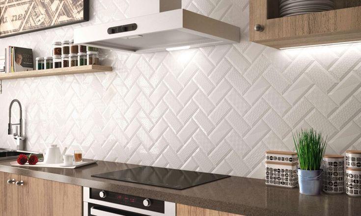 Sencillez y personalidad es estos azulejos con texturas de Bärwolf. Perfectos para la cocina