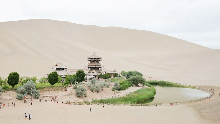 Yueyaquan Crescent Lake in Dunhuang