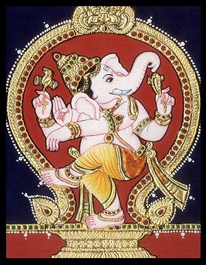 Tanjore Paintings - Nataraj Ganesha