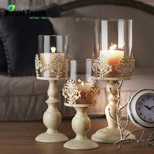 Romantische Iron Kandelaar Candle Stand Theelichthouder Lantaarn Kaarshouder Thuis Bruiloft Decoratie Gift(China (Mainland))
