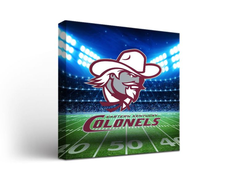 Eastern Kentucky Colonels Football Stadium Canvas Art Square