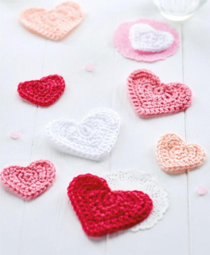 FREE CROCHET PATTERN: Heart coasters
