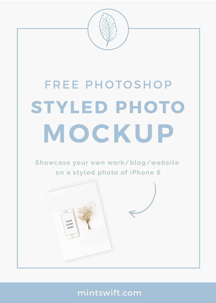 FREE styled stock photo mockup of an iPhone 6s and flower. What is a mockup?…