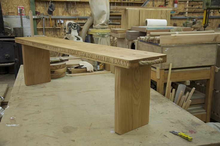 solid oak bench by the oak & rope company | notonthehighstreet.com