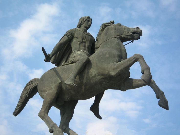The Statue of Alexander the Great, in the northern Greek city of Thessaloniki. Thessaloniki was founded around 315 BC by the King Cassander of Macedon