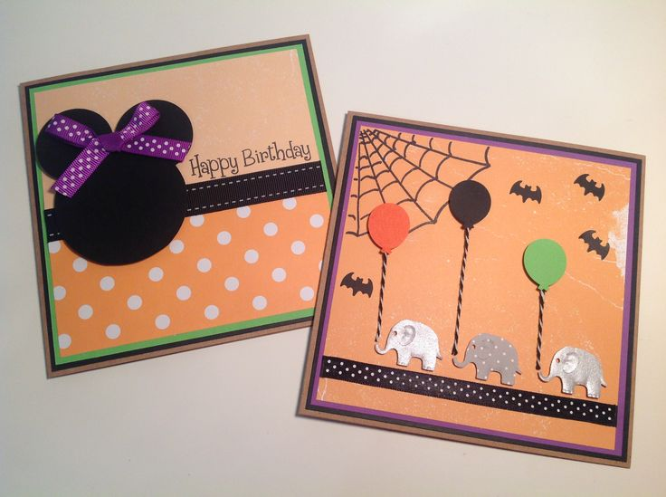 The same customer wanting some Halloween inspired birthday cards..