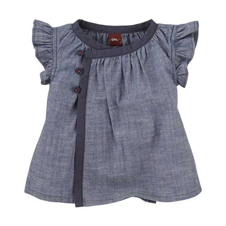 For a fresh & fun look for fall, dress her in baby girls clothes from Tea Collection. This long sleeve baby girl shirt in breathable cotton keeps her warm.