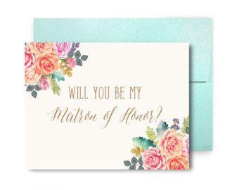 Usted será mi Dama de honor Dama de honor tarjetas por ClearyLane