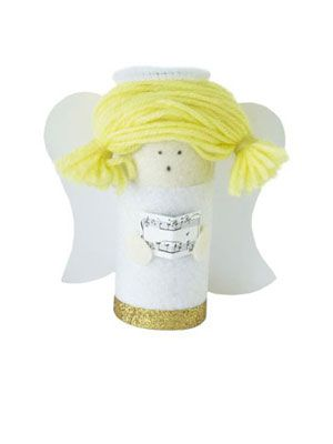 Angel: nativity scene to make from toilet-roll tubes - Christmas craft - allaboutyou.com