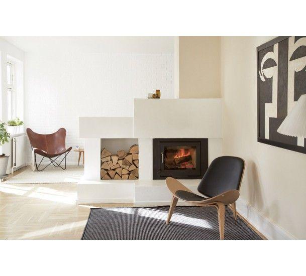 Fabula Harald tæppe - Sort/Off White - Håndvævet Kelim 140x200 cm