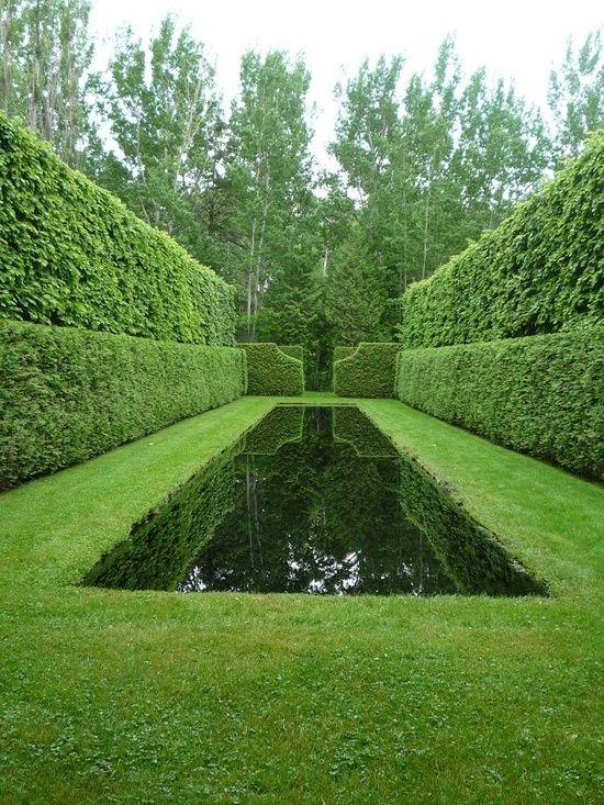 I love Italian gardens for the green on green. Startling. Haunting.