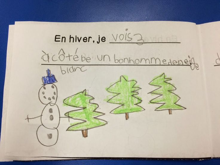 Primary French Immersion Resources: Grade 1 winter book - practicing verbs