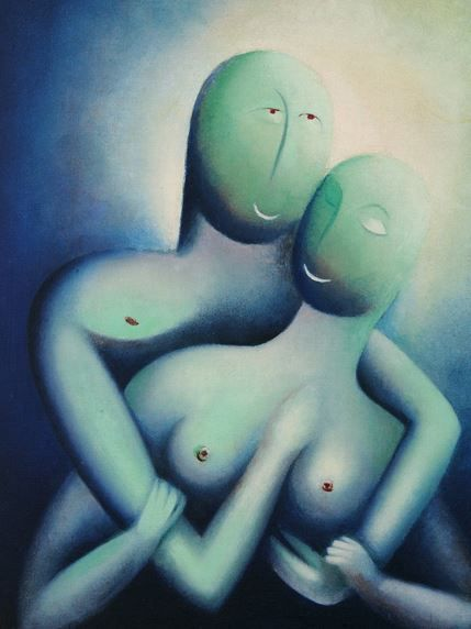 Jan Zrzavý - Infatuation (1914) #art #Czechia #painting