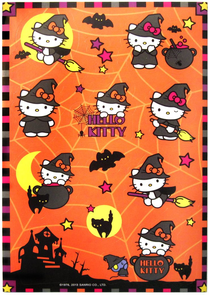 Hello Kitty Halloween stickers