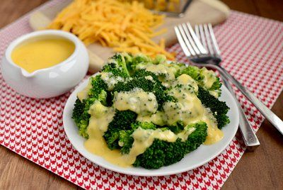 Cheddar Cheese Sauce for Vegetables by Iowa Girl Eats
