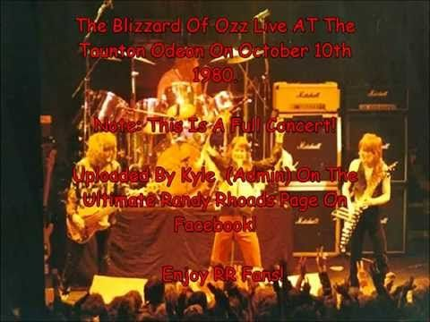 The Blizzard Of Ozz Live With Randy Rhoads At The Taunton Odeon, England (Full Concert) - YouTube