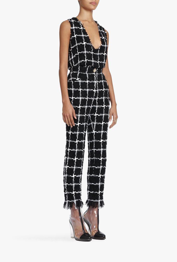 Frayed tweed pants  | Women's pants | Balmain