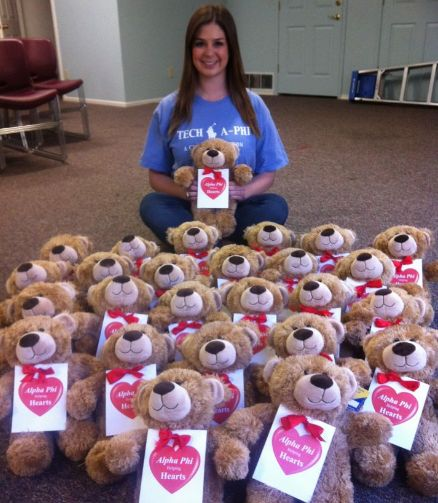 "Give ""Phi Bears"" to patients at your local heart hospital.. love this idea"