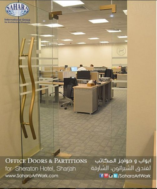 More from our customized office doors and partitions made specially for the new Sheraton hotel in Sharjah!