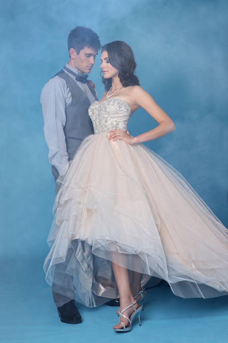 Rochie de mireasa Impression Bridal printesa  midi disponibila in stoc.