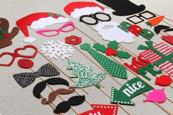 Photomaton de Noël  http://www.homelisty.com/deco-de-noel-2016-101-idees-pour-la-decoration-de-noel/