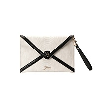Guess Confession Envelope Clutch, White multi