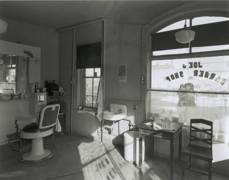 Joe's Barber Shop, Paterson, NJ | From a unique collection of black and white photography at https://www.1stdibs.com/art/photography/black-white-photography/