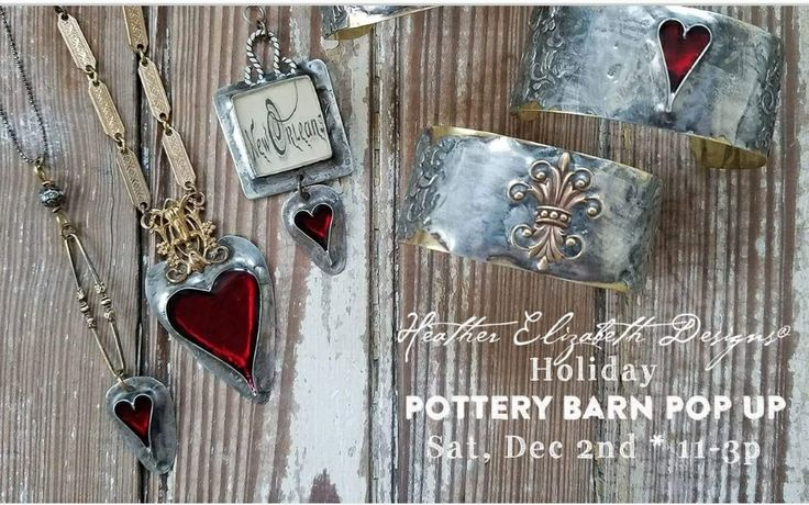 Heather Elizabeth Designs will be at Pottery Barn Lakeside - December 2nd, 2017. 11-3p. In Lakeside Mall.