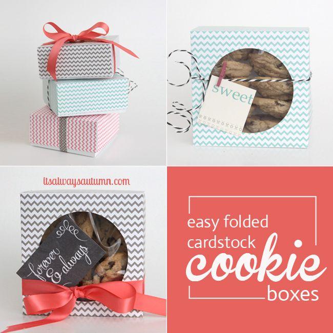 easy DIY folded paper cookie & treat gift boxtutorial - itsalwaysautumn - it's always autumn