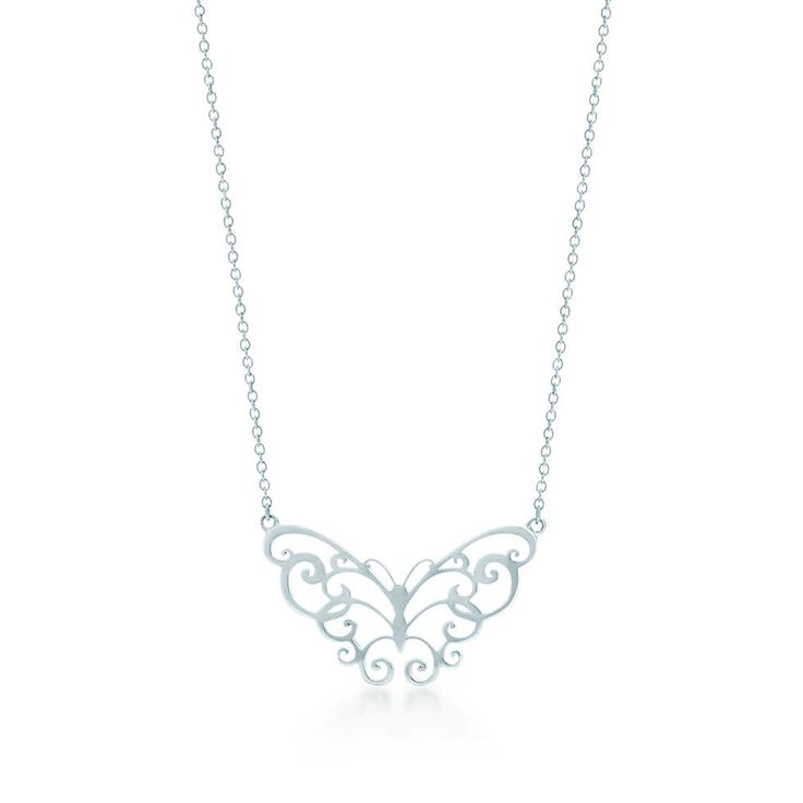 Tiffany Enchant® butterfly pendant in sterling silver.   Tiffany & Co.