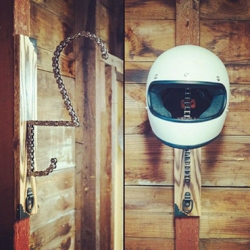 ironandair:  [Product] The @{candice} helmet rack. Follow & get someone to grab you one for Christmas.