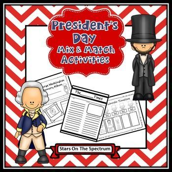Presidents Day : Presidents Day Bundle GEORGE WASHINGTON AND ABRAHAM LINCOLN TIMELINE BUNDLE This is a bundle of two resources for President's Day:George Washington TimelineAbraham Lincoln TimelineMONEY SAVER!This resource was designed to help young learners understand information pertaining to George Washington and Abraham Lincoln.